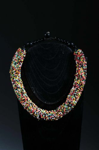 Collier ethnique perles